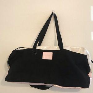 Victoria's Secret Weekender bag Black/Pale Pink
